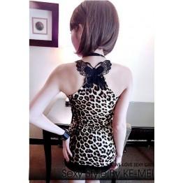 TE9340 Sexy bowknot back rhinestone vest