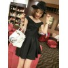 TE9712 Europe fashion temperament off shoulder cross strap tops with pleat skirt