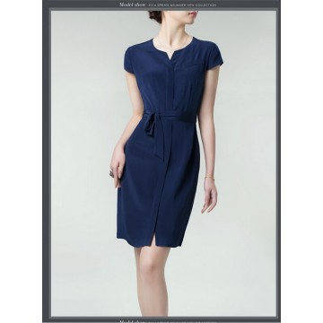 TE99008HES High quality OL temperament silk dress