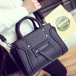 PBB8491 New style smile face fashion rivet simple handbag