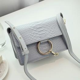 PBB8493 Europe fashion star style crocodile pattern chains messenger bag