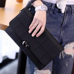 PBB8497 Wholesale stone checks pattern clutch bag