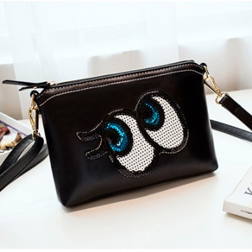 PBB8498 New style Korean fashion sequins big eye clutch bag