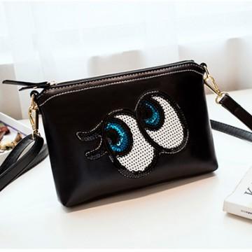 PBB8498 New style Korean fashion sequins big eye clutch bag
