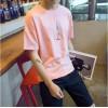 TE1629DYK Summer teenager simple casual rocket pattern t-shirt