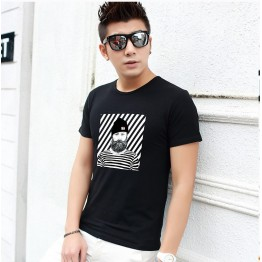 TE5809JXS Korean fashion trendy cartoon print mens t-shirt