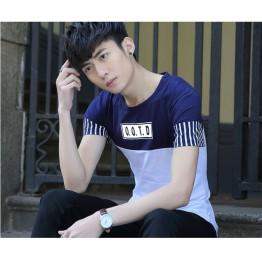 TE6016KDF Summer casual color matching mens t-shirt