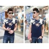 TE9121KDF Chinese style rhinestone dragon head pattern mens t-shirt