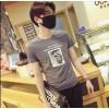 TE9209WNNZ Korean fashion print casual mens t-shirt