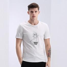 TE1624LDZ New style casual print slim men short sleeve t-shirt