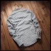 TEC210WLHY Stripes slim trendy men long sleeve shirt