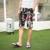 TEK516WLHY Nostalgia Union Jack print half long men beach shorts