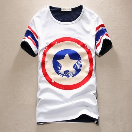 TET318WLHY Hot sale captain America short sleeve men t-shirt