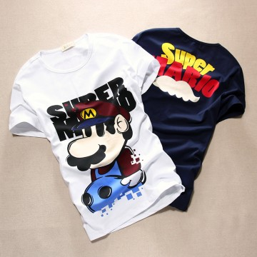 TET340WLHY Hot sale cartoon print short sleeve men t-shirt