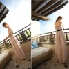 TE6417YZS Pure color slim empire waist backless boat neck tube top chiffon dress