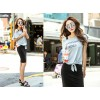 TE1311GJWL Casual joker letters print t-shirt with vest dress