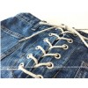 TE5108DDFS Korean fashion cross lacing A-line denim skirt