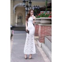 TE5949YFFS Fashion sexy cross slim tight hip formal dress