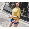 TE6423YZS Loose large size batwing sleeve backless sexy irregular t-shirt