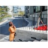 TE9919WJYS Sumer Korean style ramie fresh slim dress