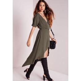 TE1293GJWL Europe fashion sext deep V neck irregular dress