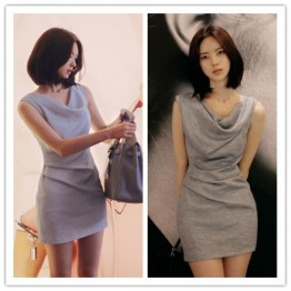 TE1295GJWL Elegant temperament Korean fashion slim dress