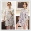 TE1464GJWL Newest Korean style casual comfortable loose print long t-shirt