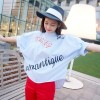 TE1299GJWL New style art letters beads decoration fashion shirt