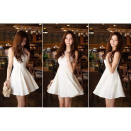 TE1301GJWL Sexy slim sweet sleeveless lacing halter dress