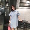 TE5759JZYS Plus size flouncing sleeve loose shirt dress