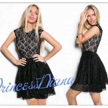 TE65126YWQS New style lace fashion slim waist dress