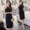TE7011WMSS New style sexy debutant cross neck side slit temperament slim dress