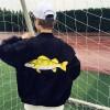 TE9186AXMZC Original style embroidery fish sunscreen baseball coat