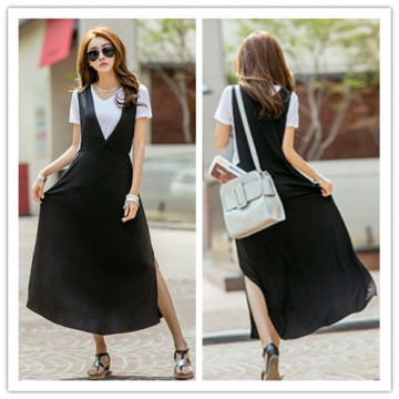 TE1453GJWL Newest Korean fashion V neck casual joker vest dress