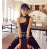 TE6553YZL Fashion trendy simple oblique off shoulder neckerchief tops