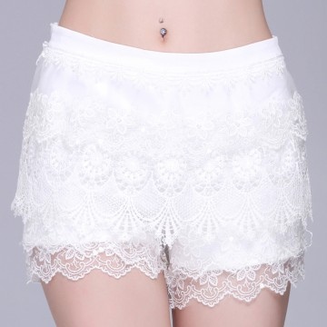 TE9111LLYG Europe fashion joker sequins sexy lace shorts