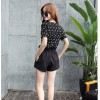 TE9523BOOT Korean fashion shivering tops with wide leg shorts