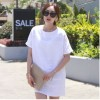 TE9918WJYS Korean style pure color hollow out round neck dress