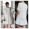 TE2220ALFS Korean fashion sweet fake two piece A line dress
