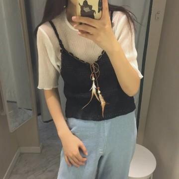 TE798XBB Summer new style joker tassel knitting vest