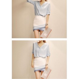 TE8810YYFS Temperament two pieces tight hip dress