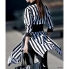 TE1547GJWL Korean fashion stripes long sunscreen shirt