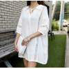 TE6439YZS Hollow out lace lacing breast batwing sleeve maternity dress