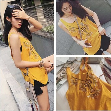 TE6562MN National style embroidery vest