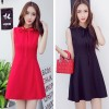 TE9312WMSS Sleeveless bowknot slim A-line dress