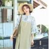 TE6451YZS Loose large size cotton ramie loose gallus dress