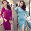 TE9168WMSS New style sexy hollow out oblique neckline slit backless formal dress