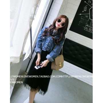TE5098DDFS New style holes loose denim jacket
