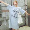 TE6454YZS Letters print loose long t-shirt dress