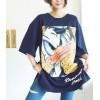 TE6456YZS New style loose cartoon print half sleeve t-shirt dress
